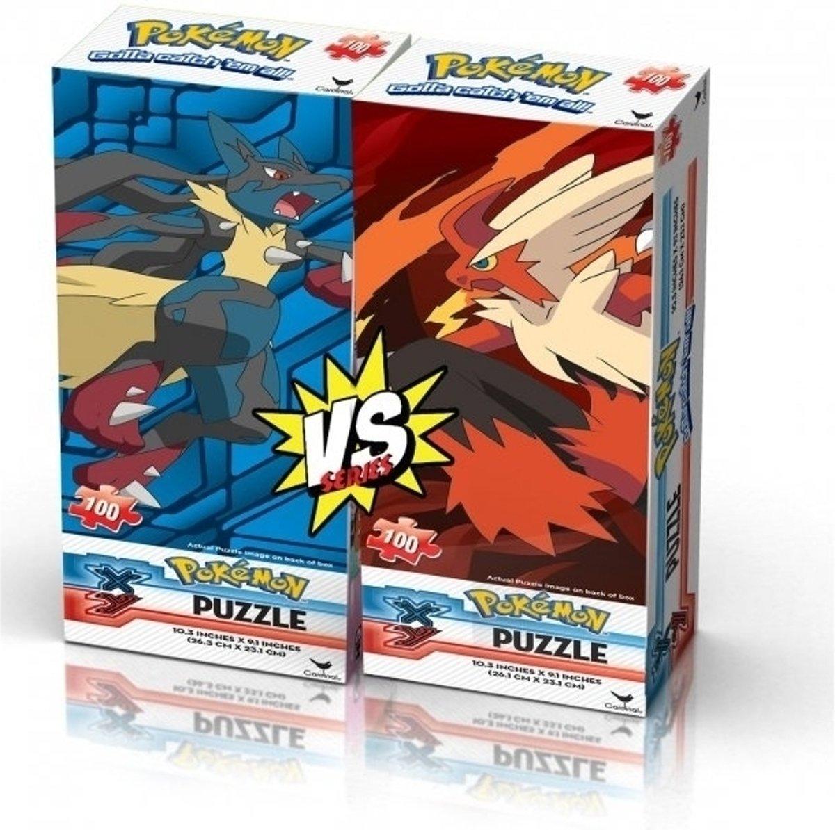 Pokemon X&Y Ultra Foil Puzzle - Mega Lucario Vs Mega Blaziken