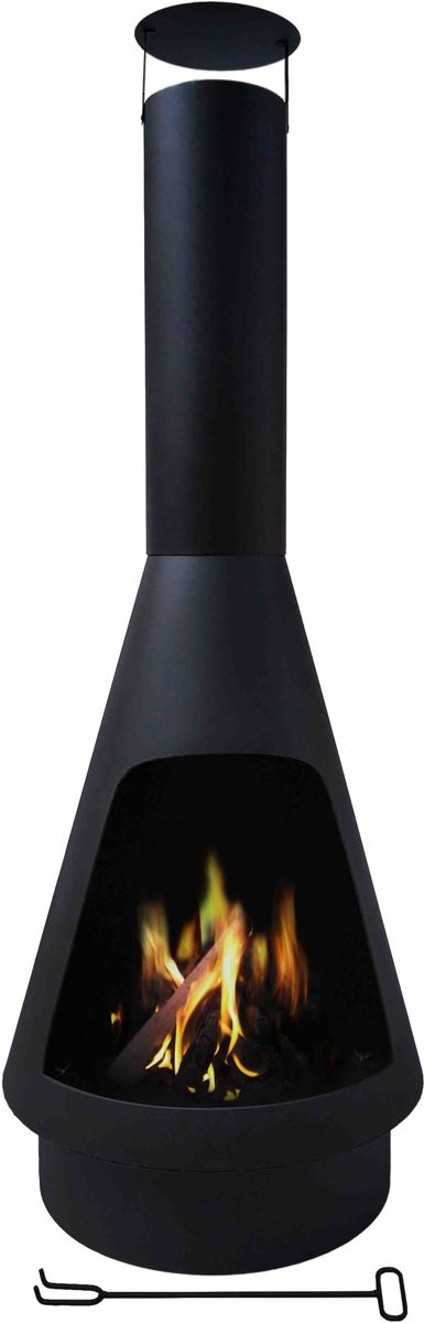 MaxxGarden Tuinhaard - terrashaard Helios - zwart - Ø60 x 160cm