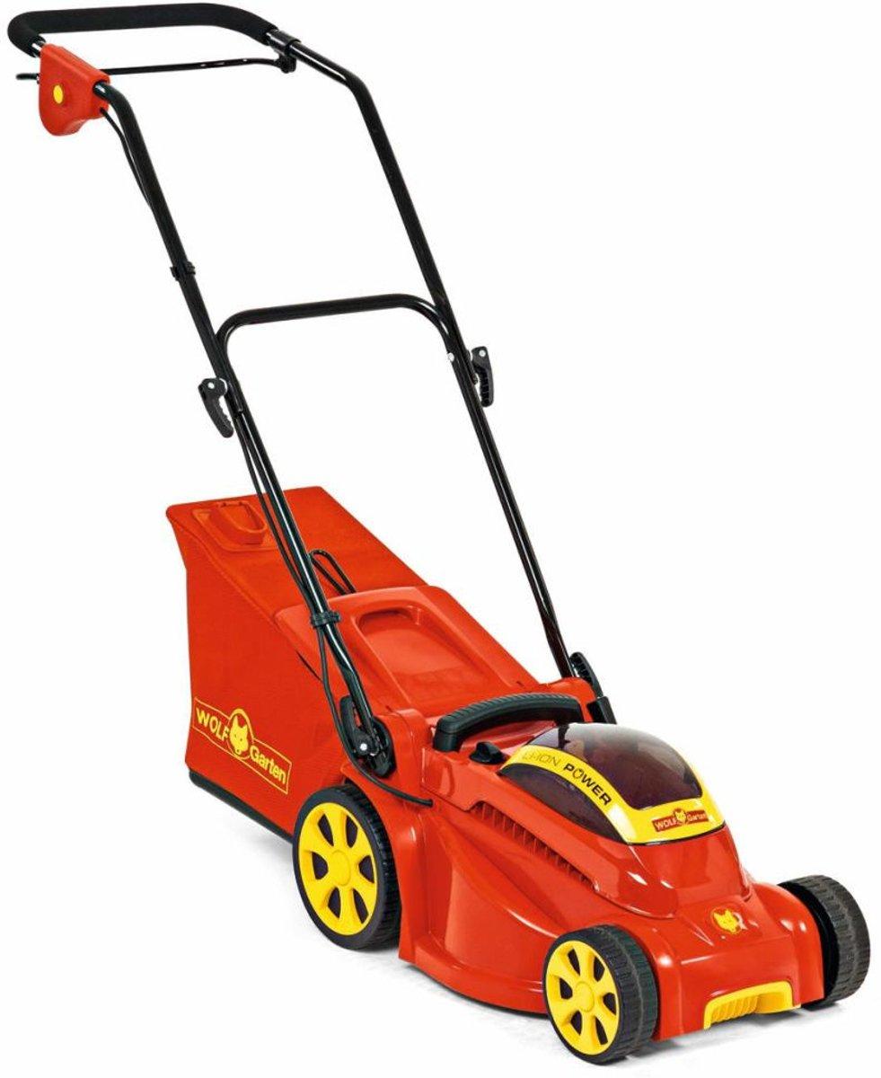 WOLF-Garten 18BKEJ13650 Duwgrasmaaier Batterij/Accu Rood, Geel grasmaaier voor €229,95