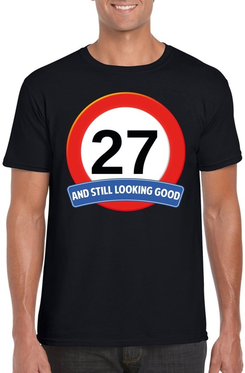 27 Jaar And Still Looking Good T Shirt Zwart Heren Verjaardag
