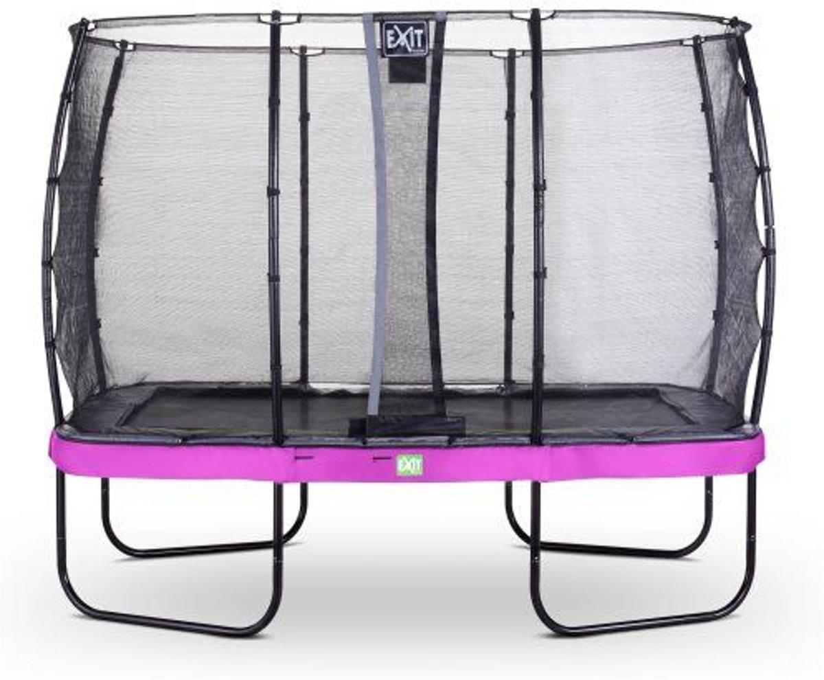 EXIT Elegant trampoline 214x366cm met veiligheidsnet Deluxe - paars