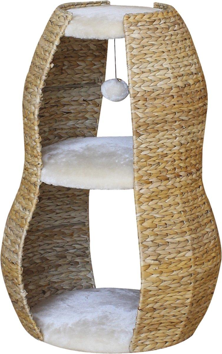 Nobby - Krabmeubel - Akaba - Beige met pluche - 50 x 40 x 76 cm