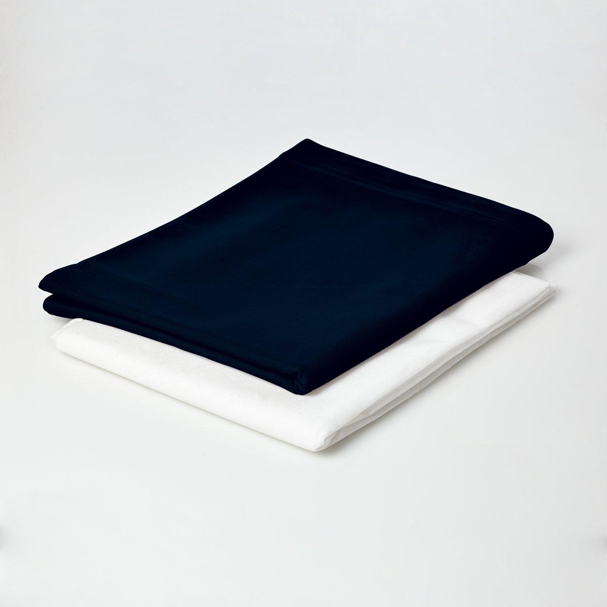 Lumaland - Hoes van luxe XXL zitzak - enkel de hoes zonder vulling - Volume 380 liter - 140 x 180 cm - gemaakt van 100% katoen - Donkerblauw kopen