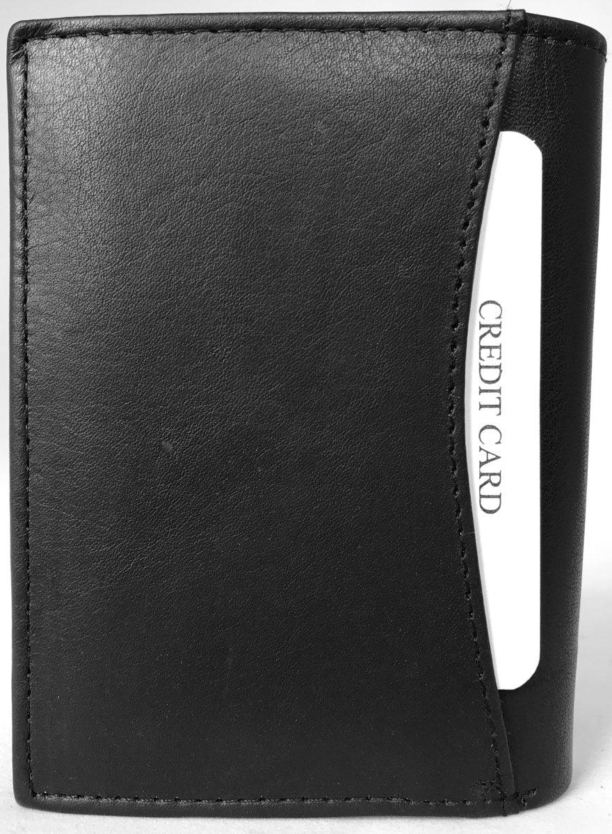 49e962136e6 bol.com | Lundholm - leren billfold portemonnee heren - staand model met RFID  anti skim.