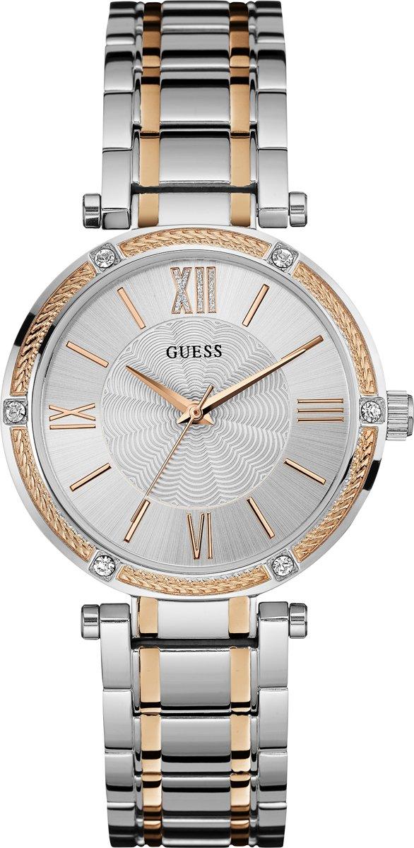 GUESS Watches - W0636L1 Park Ave - Horloge - 36 mm - Zilverkleurig;Rosékleurig