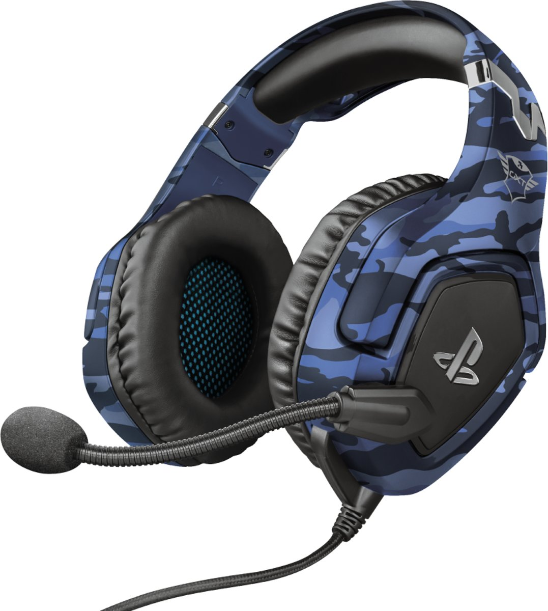 GXT 488-B Forze - PS4 Official Licensed Game Headset - Camo Blauw kopen