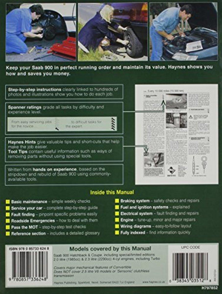 Saab 900 Service And Repair Manual Haynes Publishing Ignition Wiring Diagram 9780857336248 Boeken