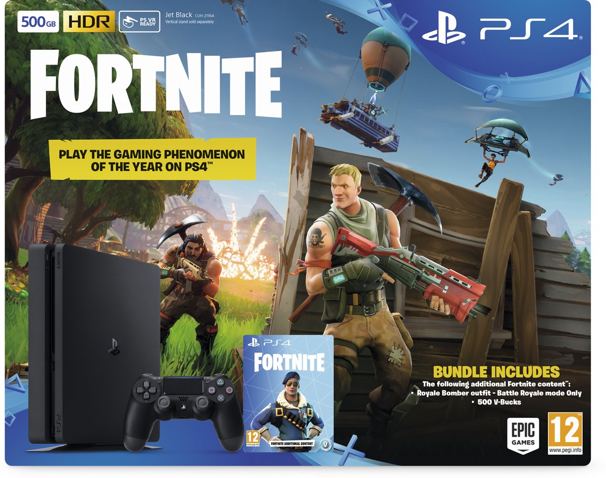 Sony PlayStation 4 Slim Fortnite Pack - 500 GB PlayStation 4