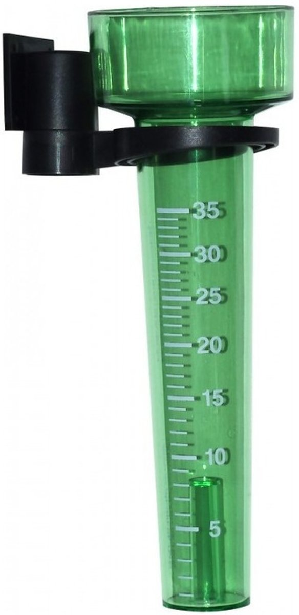 Groene regenmeter met stokhouder - regenmeters