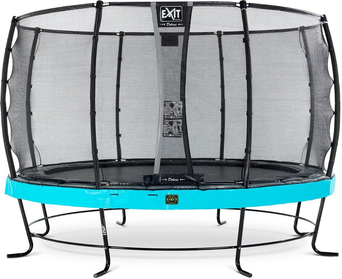 EXIT Elegant Premium trampoline ø427cm met veiligheidsnet Deluxe - blauw