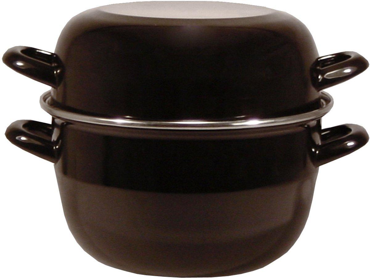 Imperial Kitchen Mosselpan 24cm emaille zwart