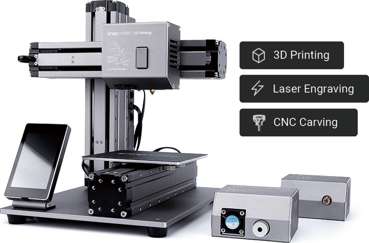 Snapmaker 3-in-1 3D printer, CNC frees en lasersnijder