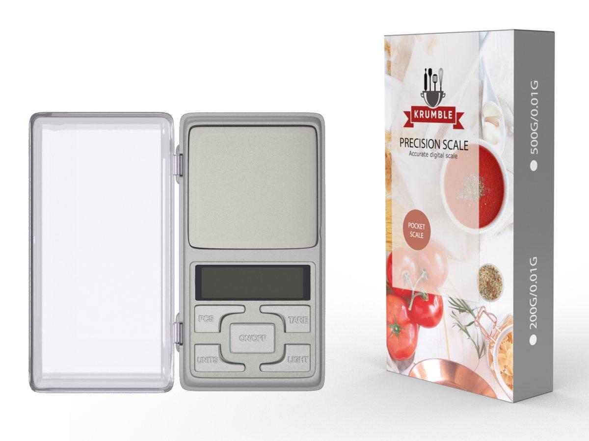 Precisie weegschaal 0.01 x 500 gram | Kleine keukenweegschaal | Digitale weegschaal | Grammen weegschaal | Mini weegschaal | Micro weegschaal