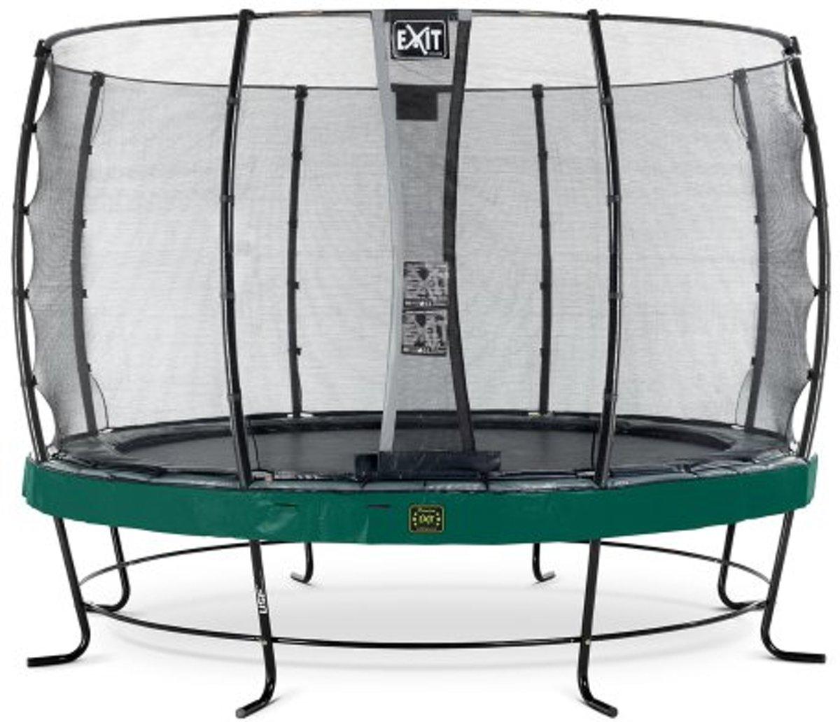 EXIT Elegant Premium trampoline ø366cm met veiligheidsnet Economy - groen
