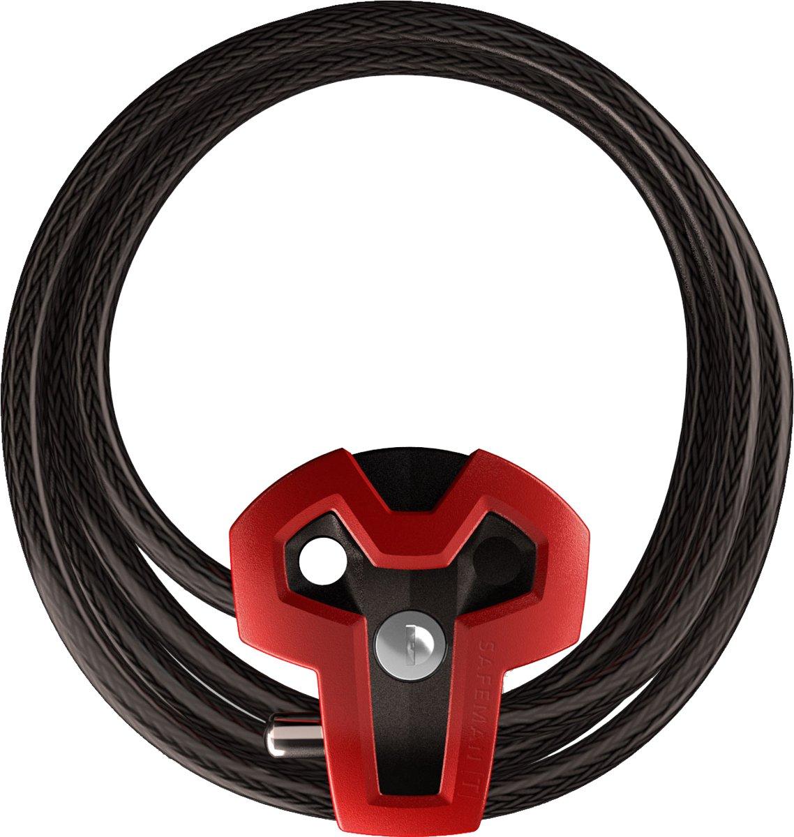 Kabelslot | Mountainbike & Racefiets | Sterk, Handig & Multifunctioneel | Rood