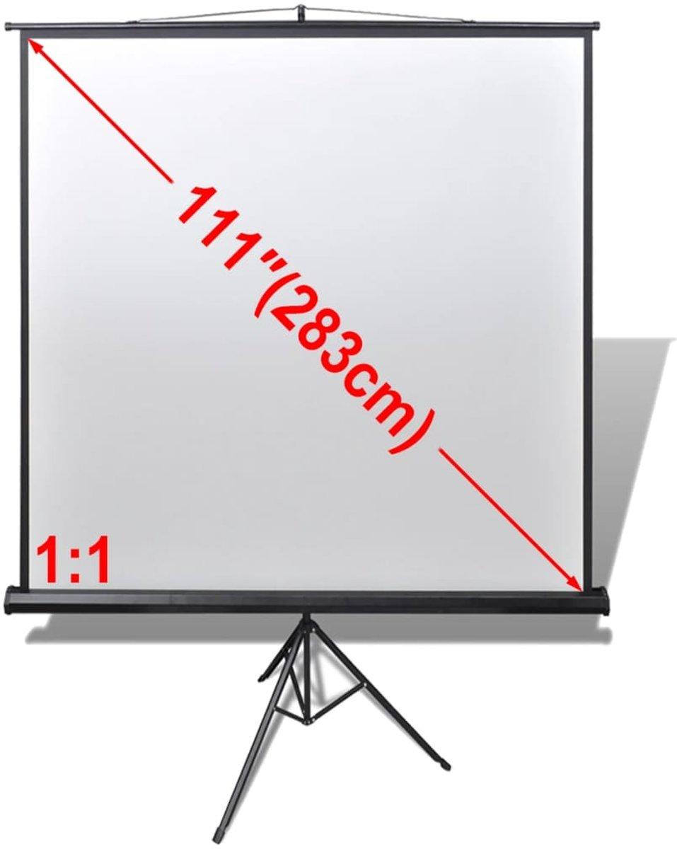vidaXL Projectiescherm wit + in hoogte verstelbaar statief 200 x 200 cm (1:1) kopen