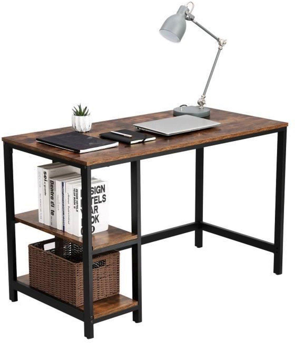 Vintage Industrieel Meubilair.Bureau Computertafel Vintage Hout Metaal Industrieel