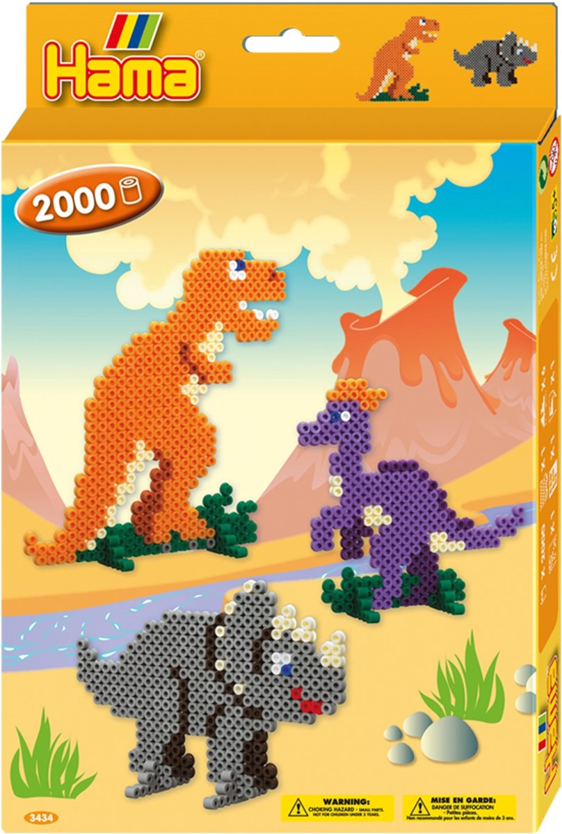 bol.com   Creatief   Strijkkralen - Hama 3434 Dino World 2000st.