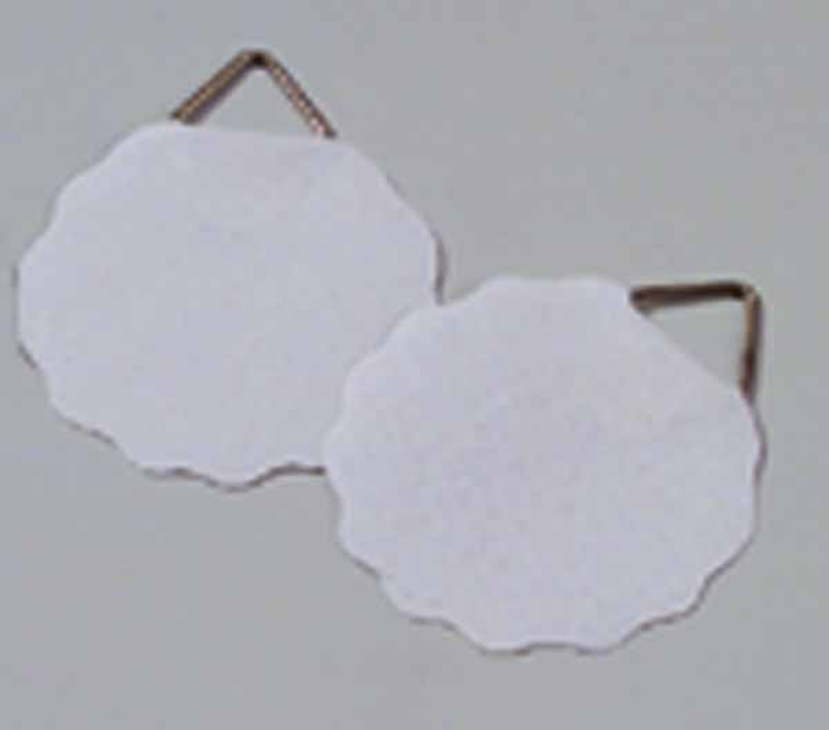 Schilderijhaken wit 45 mm met lijmgummiert, [ lijmzijde ] 20 STUKS.