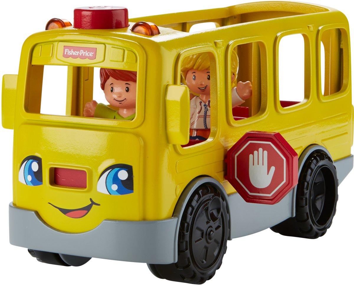 Fisher-Price Little People Zit-Naast-Mij Schoolbus - Speelfigurenset