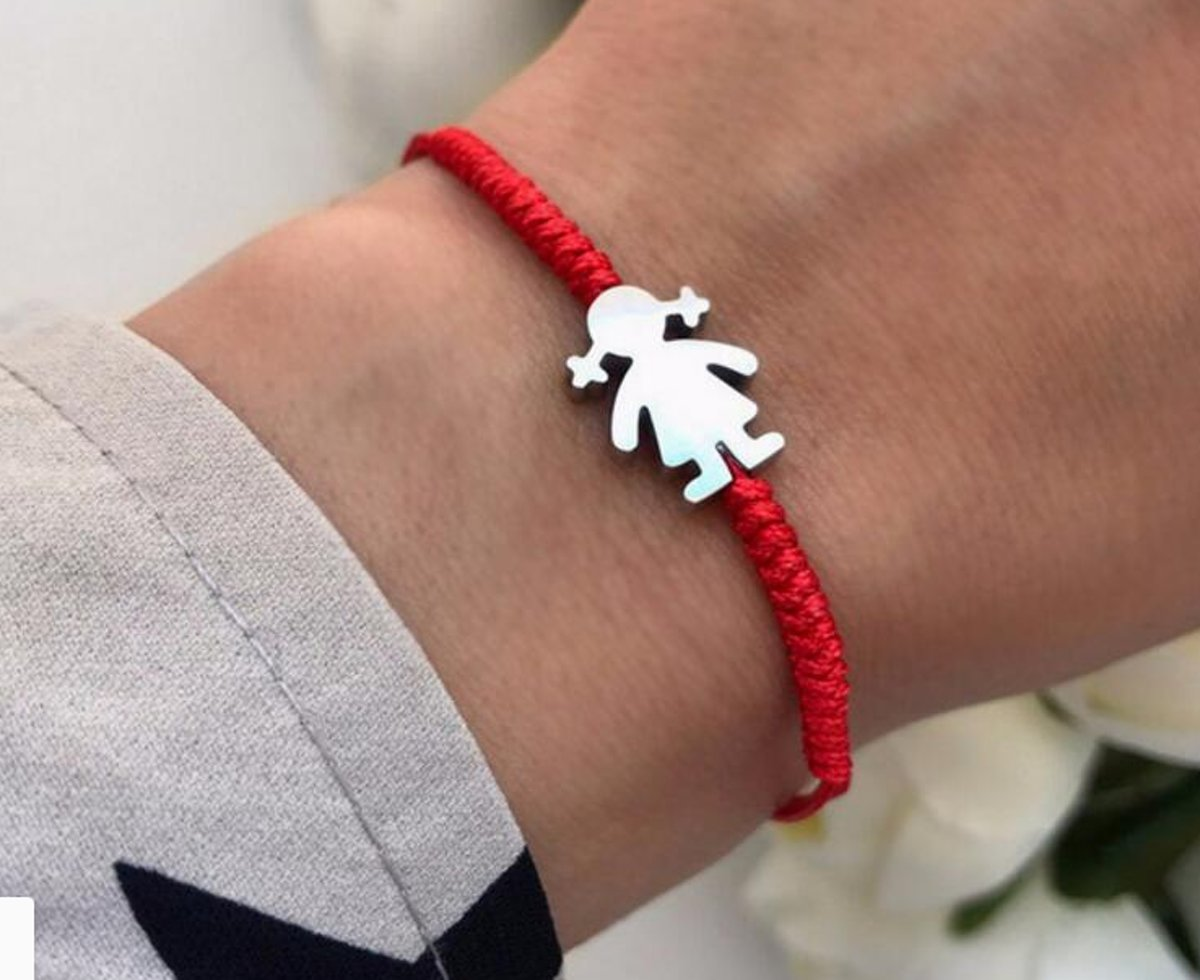Mama armband / mama cadeau / zwangerscap cadeau / draad Sieraden / Rode Armband kopen