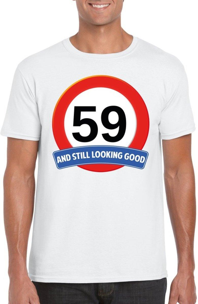 59 Jaar And Still Looking Good T Shirt Wit Heren Verjaardag