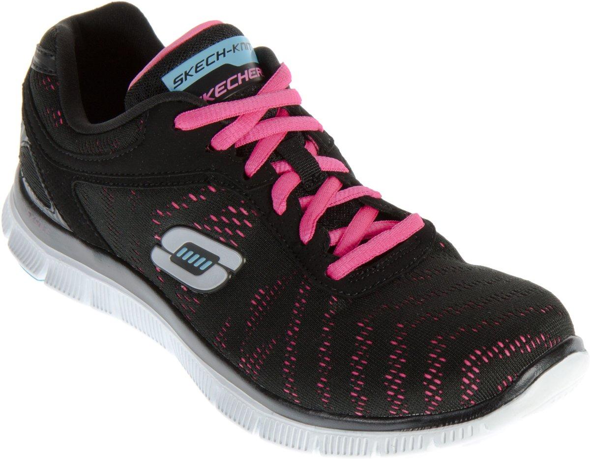 Skechers Flex Appeal First Glance sportsneakers Dames Sportschoenen Maat 40 Vrouwen zwartrozeblauw