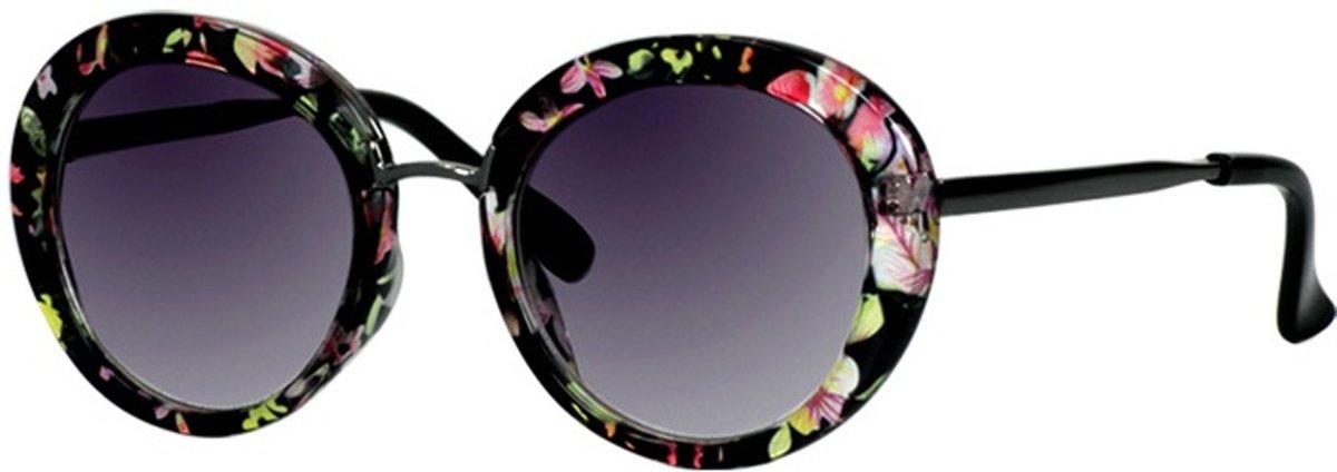 Mlook Zonnebril Dames Zwart Met Roze Bloem (ml6620) kopen