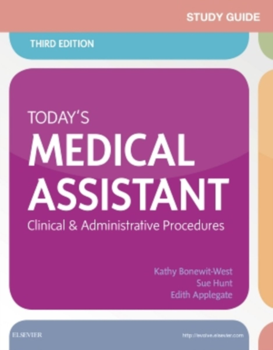 bol.com | Study Guide for Today's Medical Assistant | 9780323311281 | Kathy  Bonewit-West | Boeken