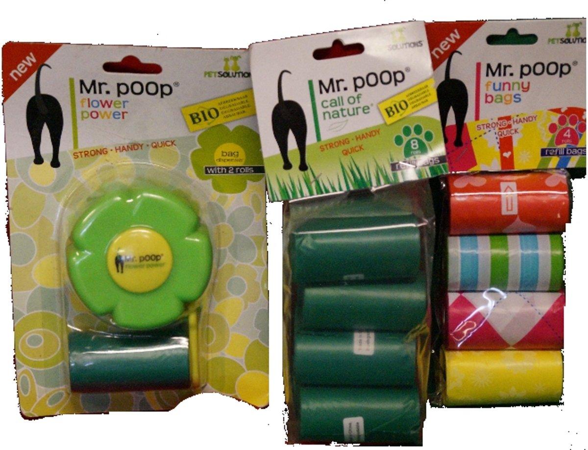 Mr. poop flower power opruim pakket 1 kopen