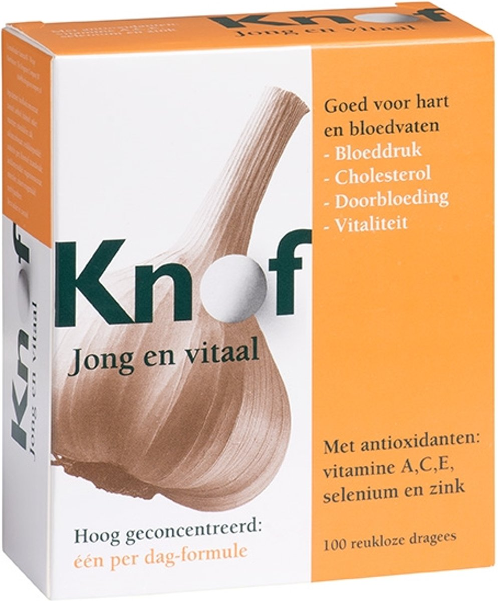 Foto van Knof Knoflook 300 mg - 100 dragees - Voedingssupplement