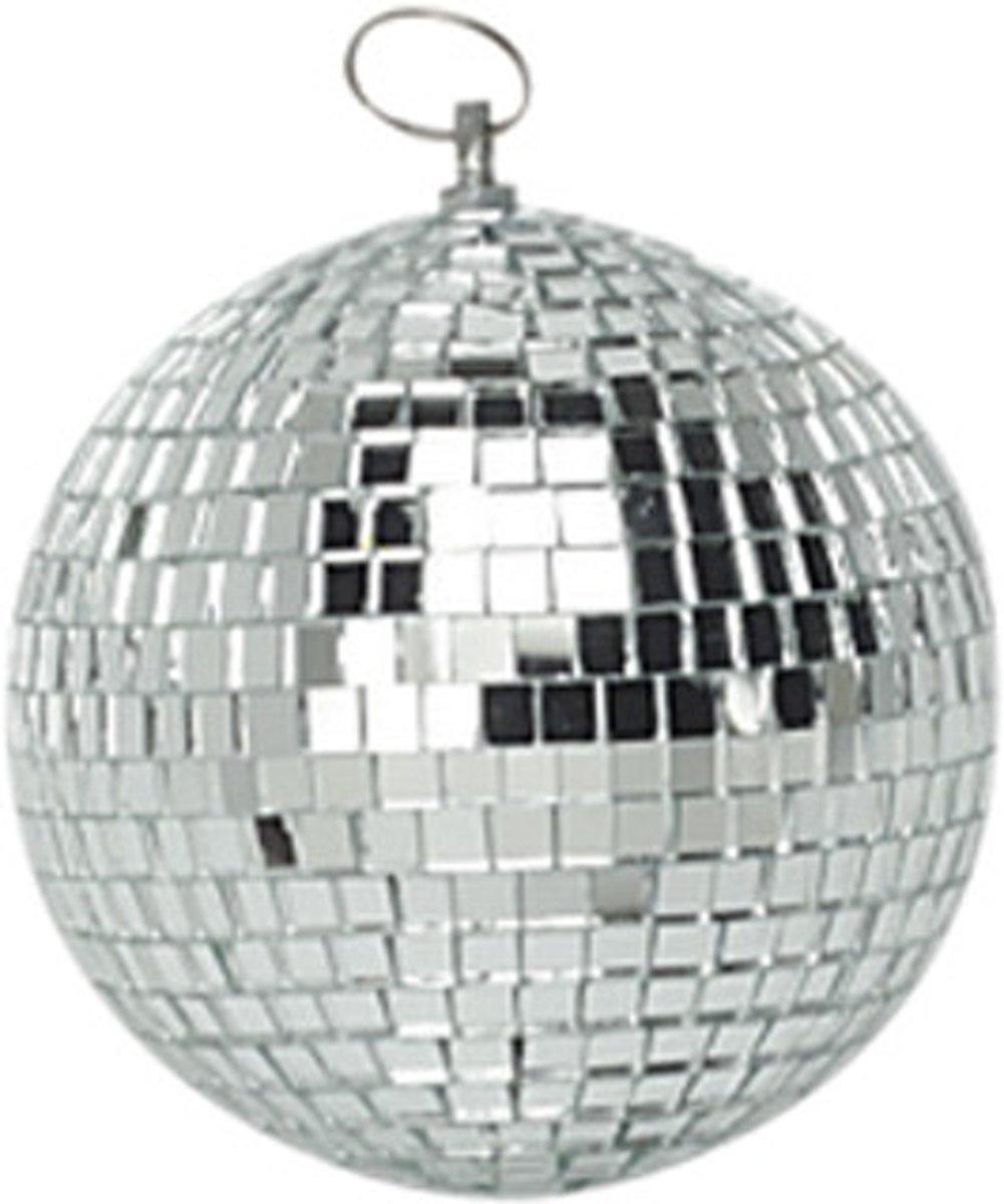 Spiegelbol discobol zilver - 10 cm