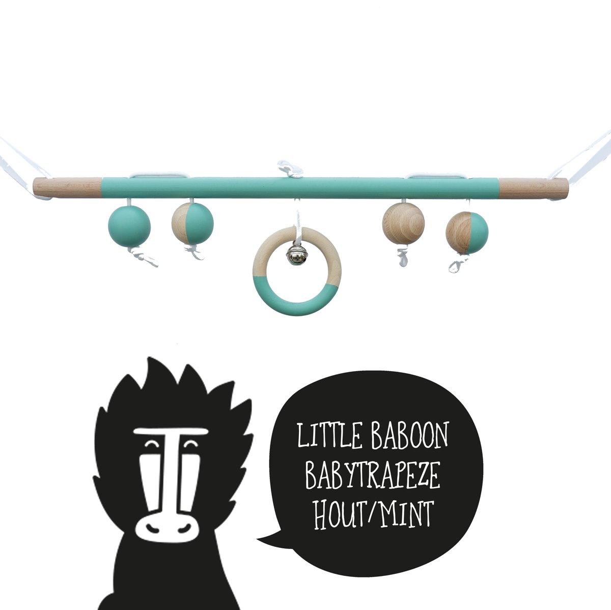 Babytrapeze / babygym hout mint