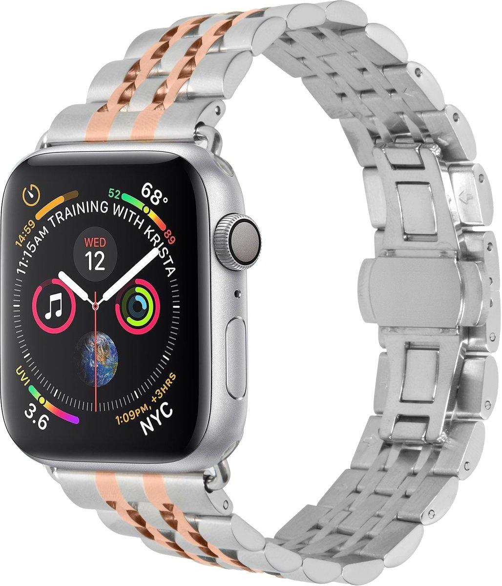 Rosé Gouden Stainless steel watch band voor de Apple Watch 44 mm / 42 mm kopen
