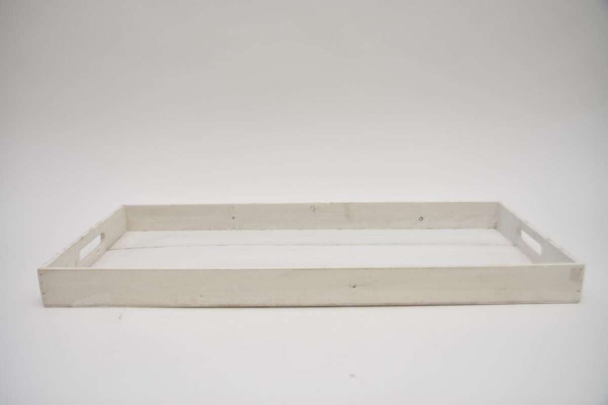 dienblad hout White-wash 64x29x5cm
