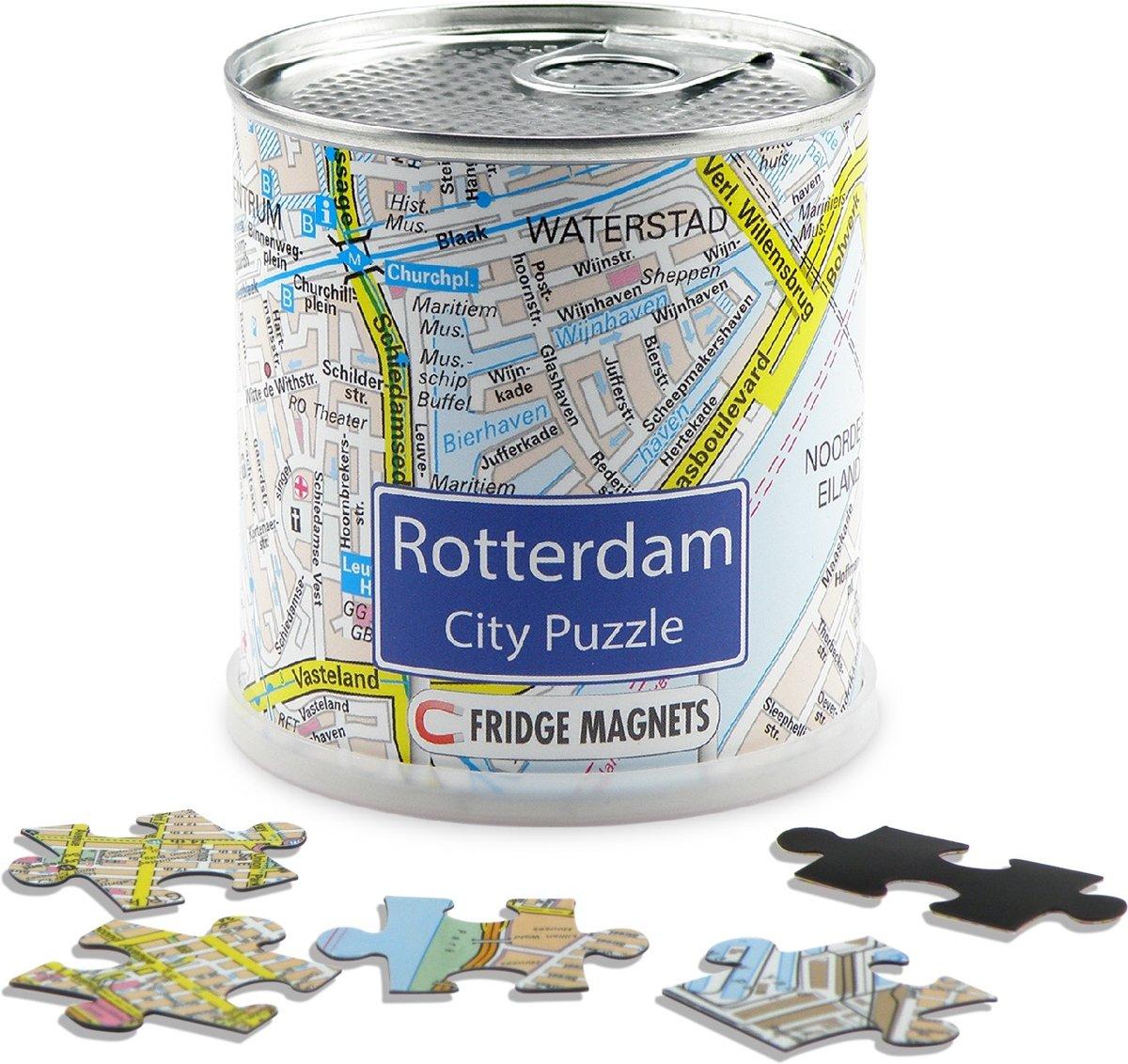 City Puzzle Rotterdam - Puzzel - Magnetisch - 100 puzzelstukjes