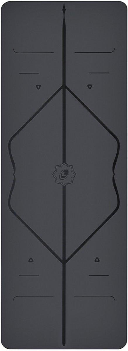 Liforme - Fitnessmat - 185 cm x 68 cm x 0,4 cm - Grijs kopen