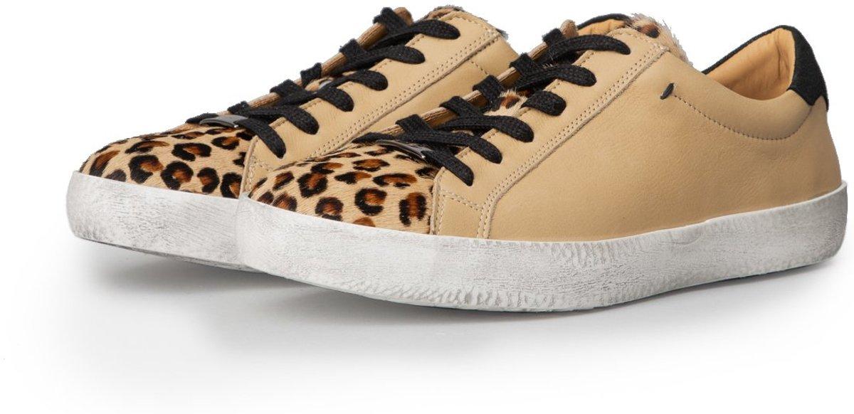 KUNOKA Alex 2.2a hidden leopard Sneakers Dames Beige Luipaardprint