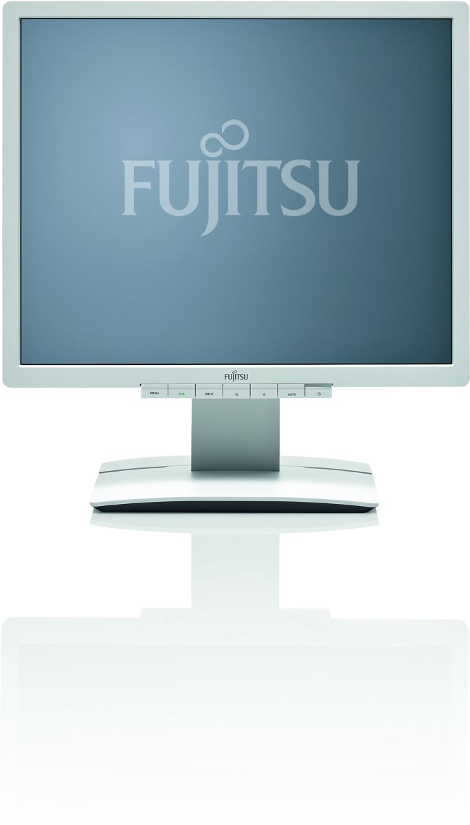 """Fujitsu B19-6 LED - LED monitor - 19"""" - 1280 x 1024 - 250 cd/m2 - 1000:1 - 2000000:1 (dynamic) - 5 ms - DVI-D, VGA - speakers"""