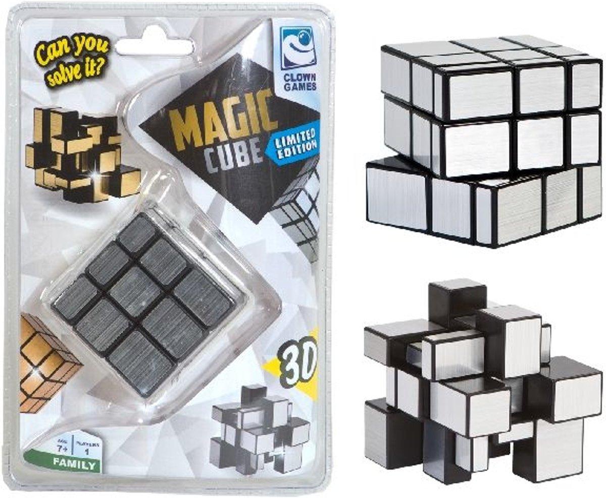 Magic puzzel cube zilver