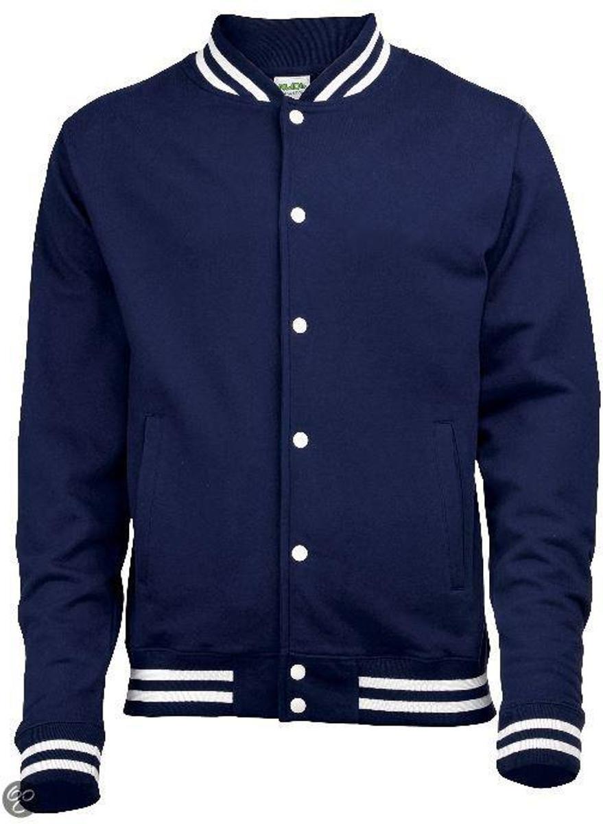 Foto van College Jacket, kleur Oxford Navy, Maat M