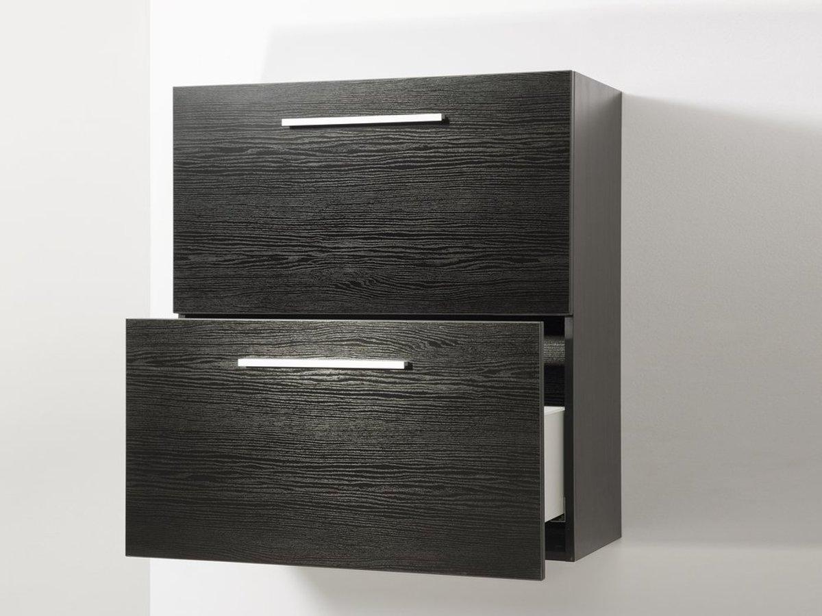 Bol.com beliani murcia badkamermeubel hout zwart 80x35x88