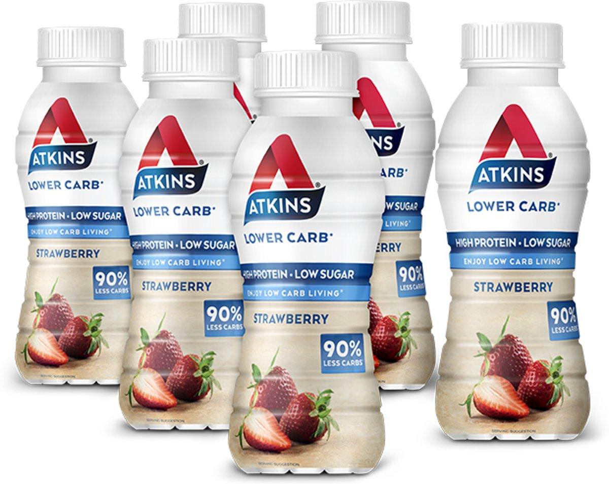 Foto van Atkins Advantage Ready To Drink Strawberry - 5+1 gratis 330ml