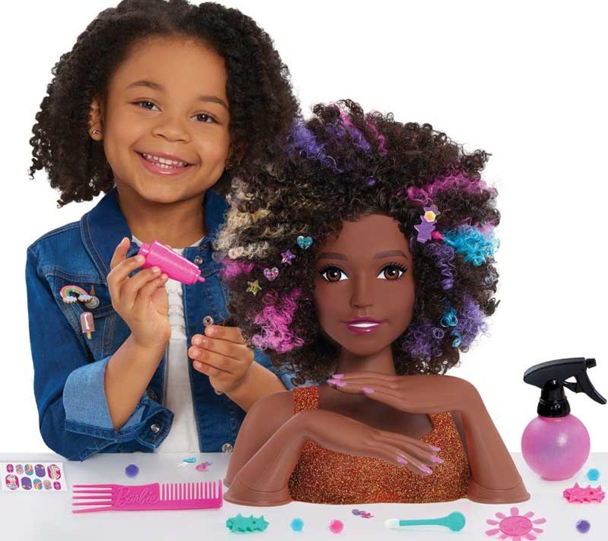 Barbie kaphoofd - Uitgebreide set voor zowel het haar als nagels