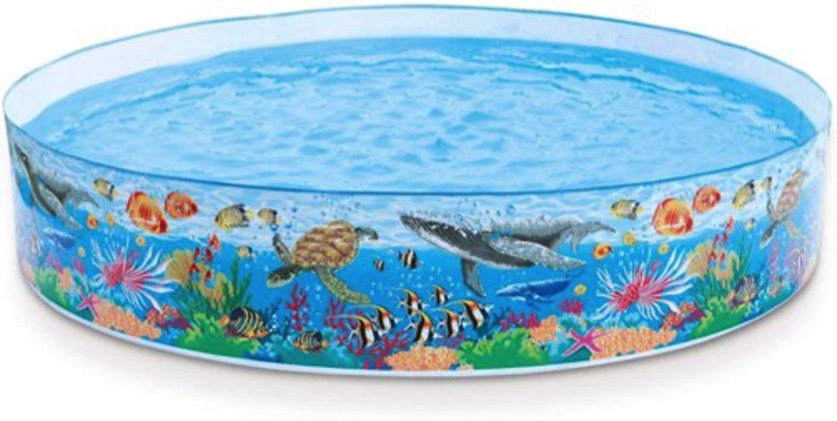 Intex Zwembad harde wand Oceaan Rif Ø 244 x 46 cm
