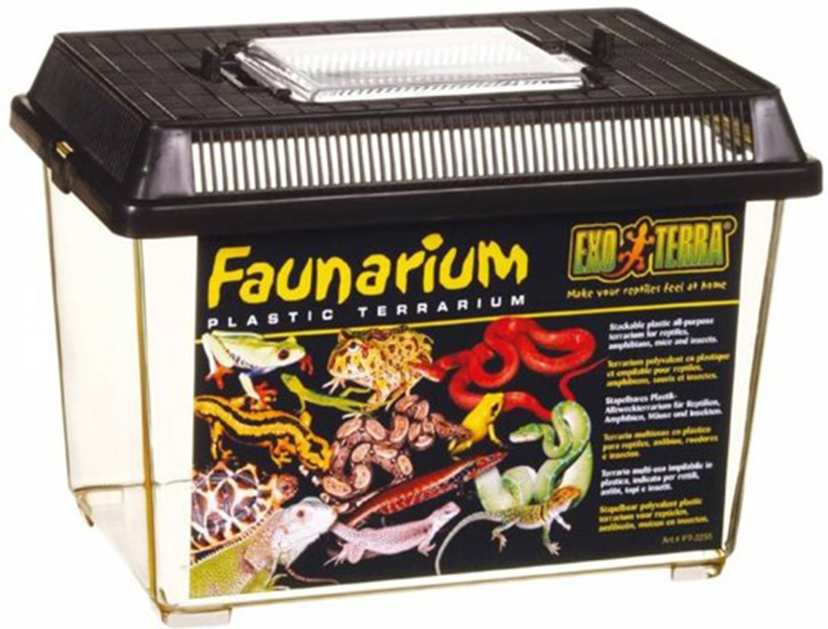 Exo Terra - Terrarium Faunarium Medium Zwart - 30x19.5x19.5 cm