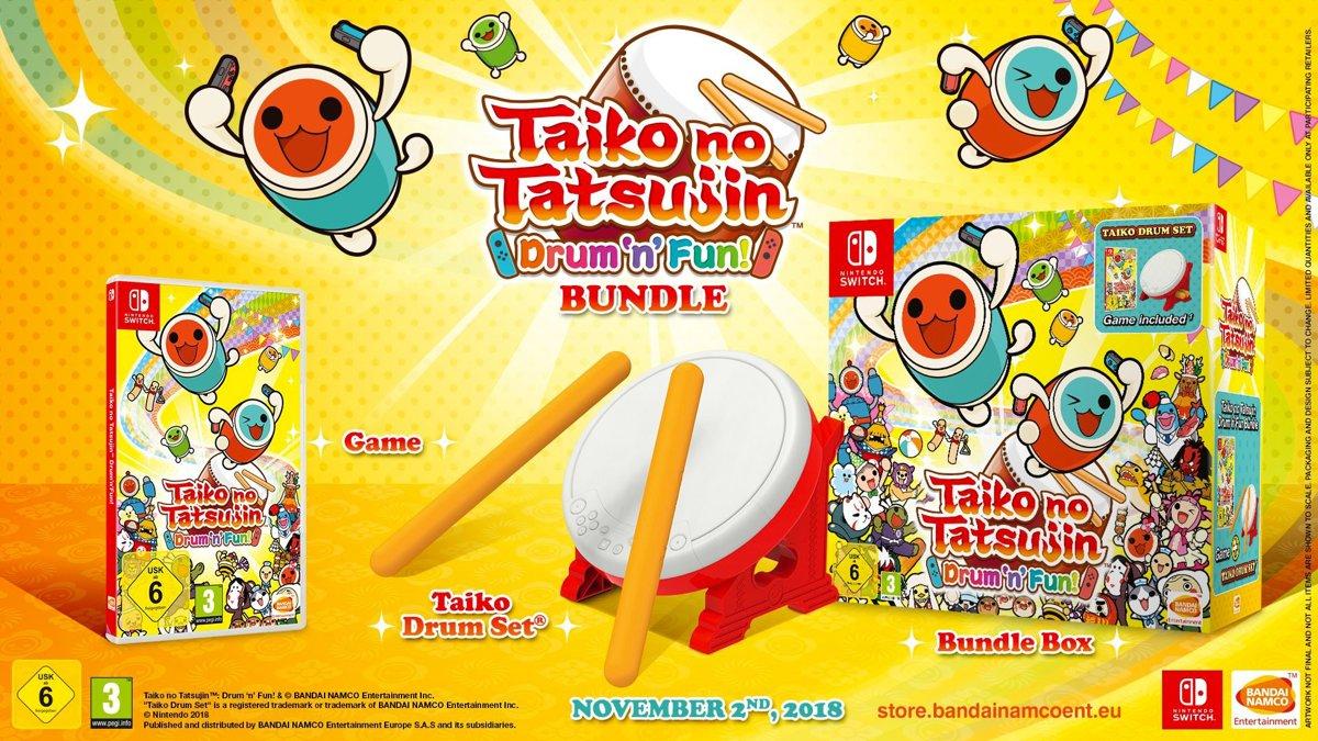 Taiko no Tatsujin: Drum 'n' Fun! + Tatacon Bundel Switch
