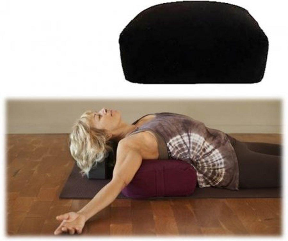 Meditatiekussen/bolster zwart rechthoekig (38x28x15 cm) kopen