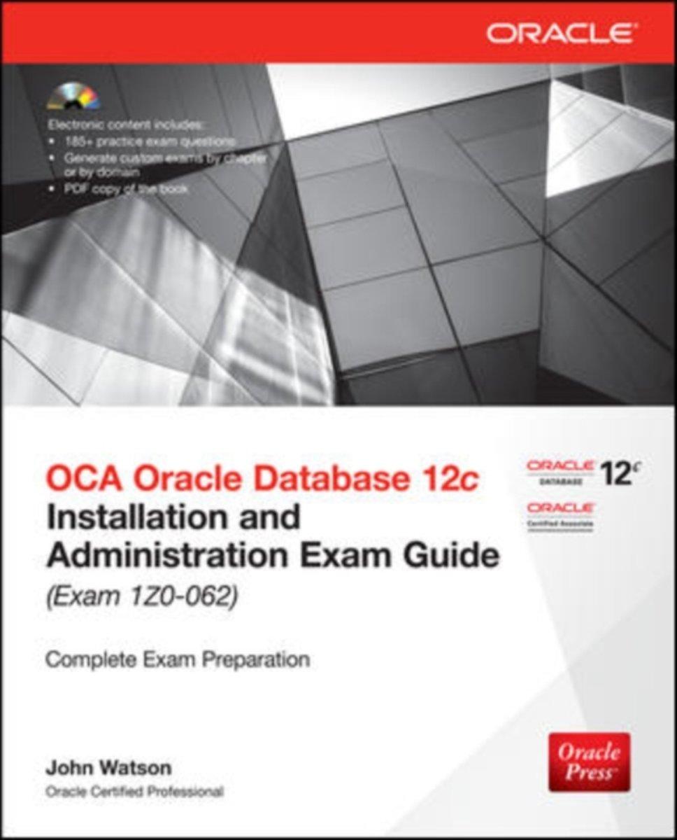 Bol Com Oca Oracle Database 12c Installation And Administration
