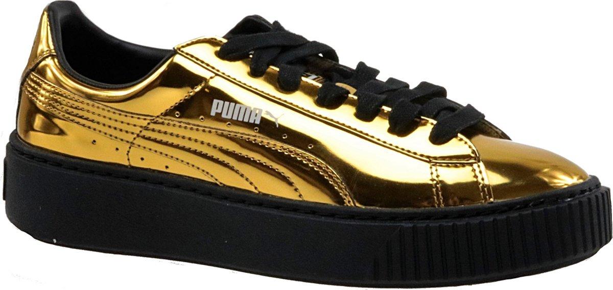 4e13e81dce3 bol.com | Puma Basket Platform Metallic 362339-04, dames, goud, sneakers  maat: 39 EU